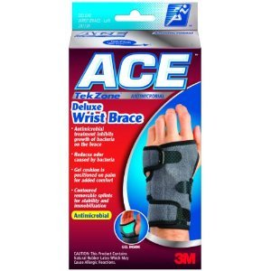 Ace TekZone Deluxe Wrist Brace Sm-Md Left --- Antimicrobial
