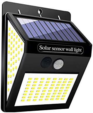 GUTE Luz Solar Exterior,144 LED Luz Solar Jardín,120 °Iluminación de Lados Foco Solar con Sensor de Movimiento Impermeable Lámpara Solar para Jardín (1-Paquete): Amazon.es: Iluminación