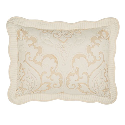 Brylanehome Amelia Embroidered Sham (Ivory,Stand)