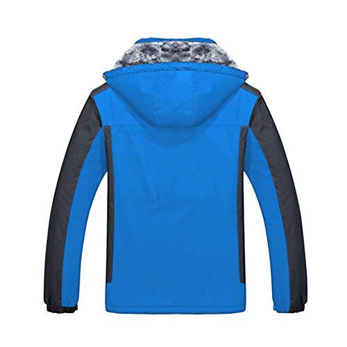 Windproof Uomo Addensare Vello Taglia Poonkuos Cappotto Inverno Giacca Blu Sciare 4OTqxWS7w