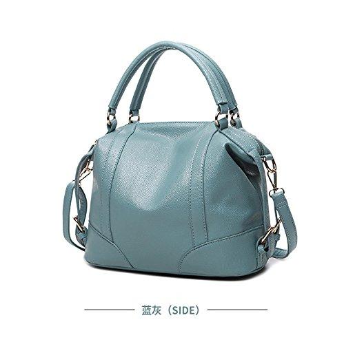 De Niña Messenger Mujer Azul Marrón Ligero Agua Pu Fácil Haoda Al Piel Multifunción Resistente Bag Bolso Grande wxFtqC8fC