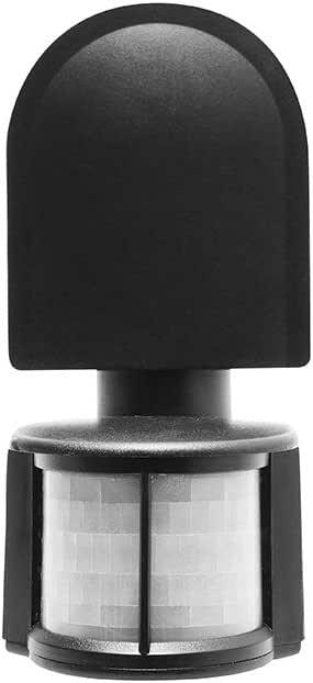 CGC Negro IP44 Sensor de Movimiento PIR Montaje en Pared CR-2: Amazon.es: Bricolaje y herramientas