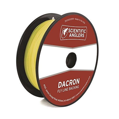 Scientific Anglers Backing Dacron Fly Line, Yellow, 20 lb/100 yd (Fly Line Backing Yellow)