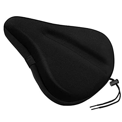 Exercise Bike Gel Seat Cushion,VICKMALL Large Soft Durable Bicycle Seat Cover Cushion,Fits for Cruiser and Stationary Bikes Indoor Cycling Spinning.Come with Free Waterproof Dustproof Cover