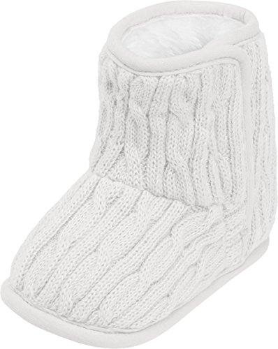 Playshoes Unisex Baby Babyschuhe, Strick-Schuhe, Gefüttert Klassische Stiefel Beige (Natur)