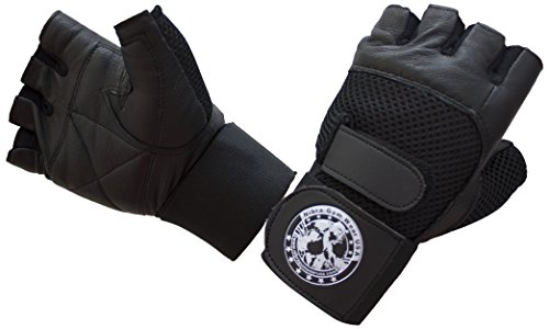 Nibra-Gym-Wear-USA-Gym-Gloves-Black-with-Wrist-Wrap-for-Man-Women-Padded-Workout-CrossFit-WeightliftingBiking
