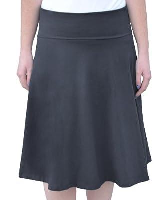 Kosher Casual Women's Modest Knee Length Skater Skirt