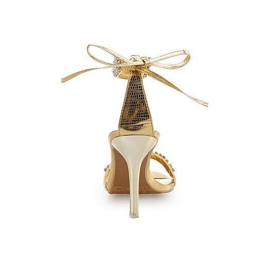 c703a1cb El mejor regalo para mujer y madre Mujer Zapatos Cuero Purpurina Zapatos  del club Sandalias Tacón Stiletto Pedrería Flor de Satén para Boda Vestido  Fiesta ...