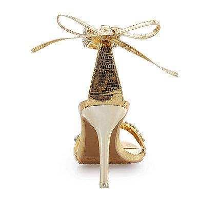 Mujer Noche Zapatos Dorado club madre uk4 mujer Pedrería eu36 Cuero Purpurina y de del para El Vestido Fiesta y mejor Satén para regalo Tacón Stiletto Sandalias Zapatos cn36 us6 Flor Boda wFqxn47Y