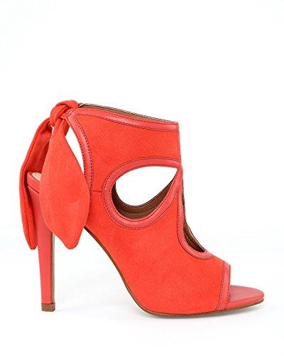 JEZZELLE - Sandalias de vestir para mujer Coral