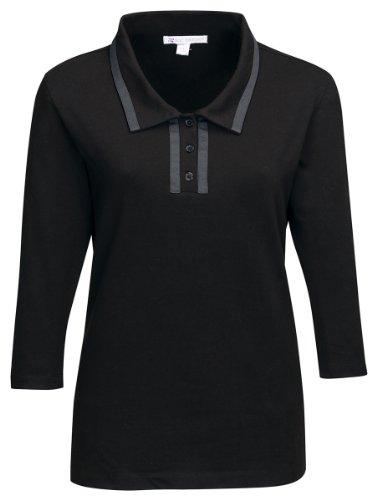 Tri-Mountain Peyton Jersey 3/4-Sleeve Polo Shirt, M, (3/4 Sleeve Polo Shirt)