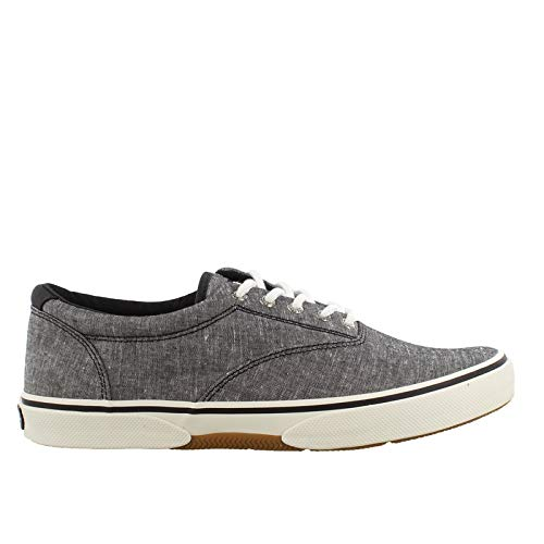 SPERRY Men's, Halyard Sneaker Chambray Black 10 M