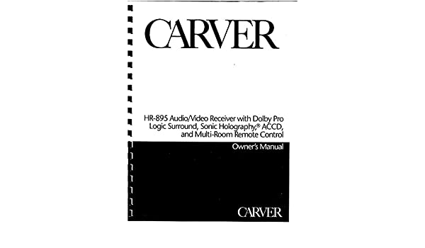 Carver hr 895 receiver owners instruction manual amazon books publicscrutiny Choice Image