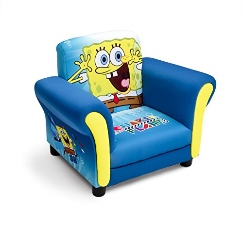 (Delta Children Upholstered Chair, Nickelodeon Spongebob)