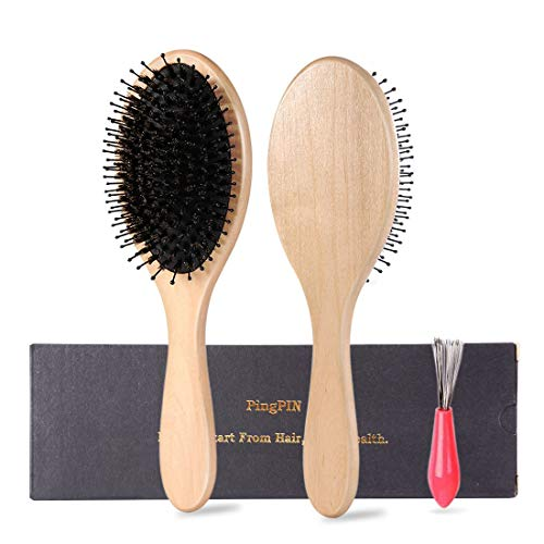 Hair Brush-Boar Bristle Hairbrush for Women Men Thick,Thin Curly,Dry or Damaged Hair, Avoid Tangles and Hair Frizz, Keep Your Hair Smooth and Healthy