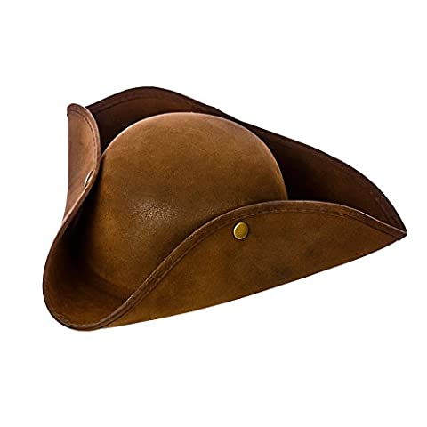 Costume Pirate Hat - Pirate Hat - Super Deluxe Brown Suede