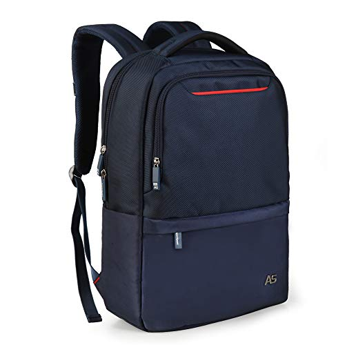 ASPENSPORT Slim Laptop Backpack Fit 15.6 inch Business Travel Computer Bag with Luggage Strap Water Repellent Daypack for Men Navy