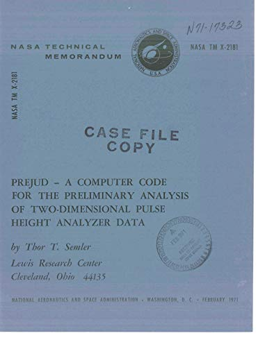 PREJUD - A computer code for the preliminary analysis of two-dimensional pulse height analyzer data (Digital Analyzer Pulse)