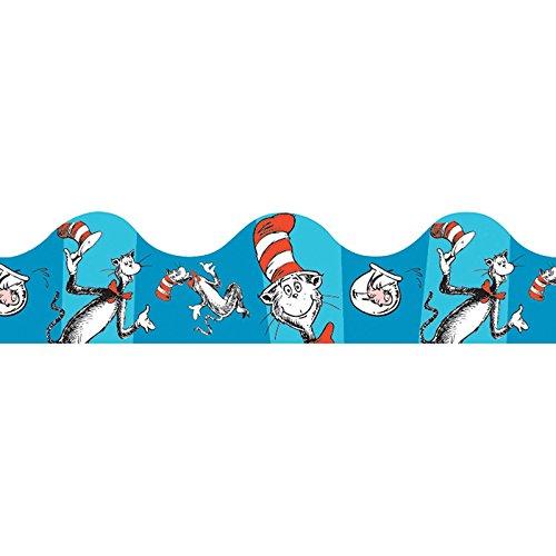 Eureka Cat en el borde azul Deco ajuste