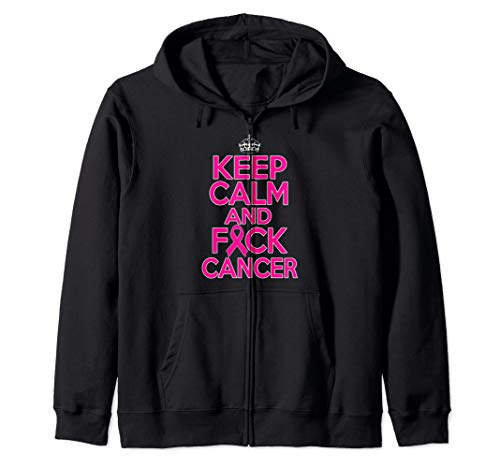 (Breast Cancer Awareness Month Keep Calm And Fuck Cancer Zip)