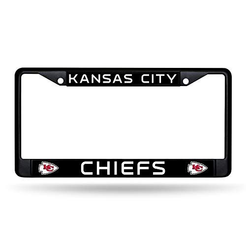 Rico Industries Kansas City Chiefs Authentic Metal Black License Plate Frame Auto Truck Car
