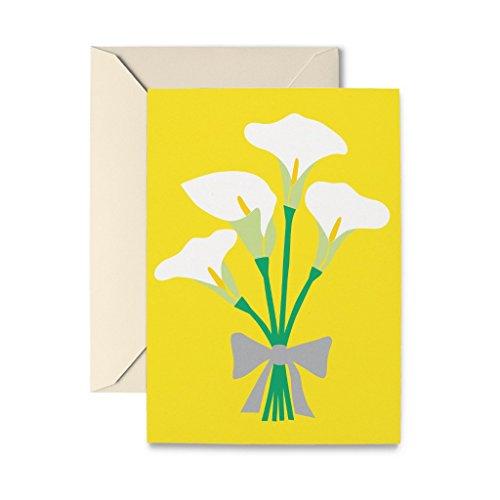 Card Sympathy Lily (R. Nichols Calla Lilies Sympathy Greeting Card with Envelope)
