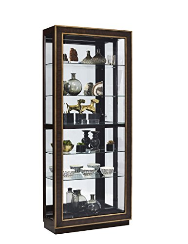 Pulaski P021587 Finley Sliding Door Curio Display Cabinet, 34.13