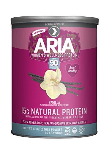 Designer Protein Aria, Women's Wellness Protein, Vanilla 12 Ounce
