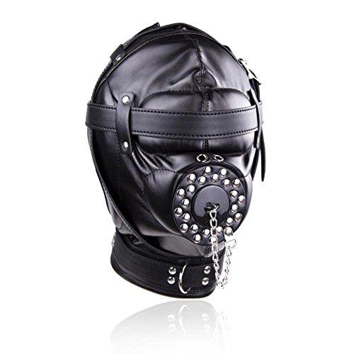 Fetish Unisex Leather Padded Hood Mask Blindfolded,BDSM Cosplay Bondage Restraints,Adult Sex Toys for Couple Style 5 Mask by CNSKJEOIcnjfl