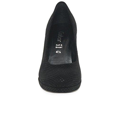 Tacco Dot Fashion Gabor Black con Micro Donna Scarpe Ht OWtSSvUq