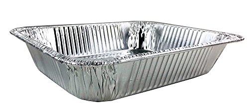 Aluminum Foil Pans - Half-Size Deep Disposable Steam Table Pans for Baking, Roasting, Broiling, Cooking, 12.75 x 10.25 x 2.56 - Heavy Duty Made in USA (Pack of 30) by PACTOGO (Image #4)