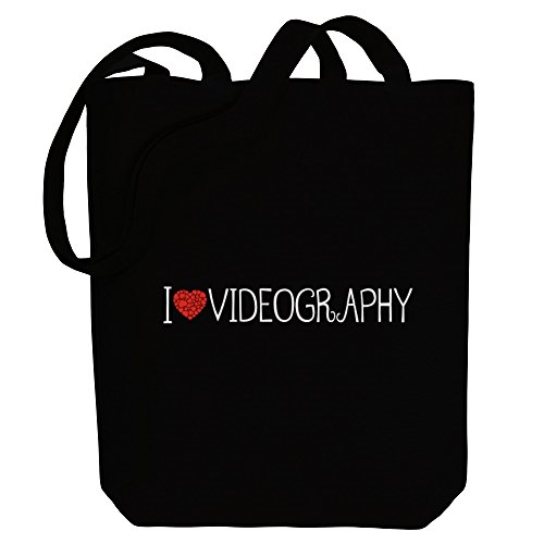 Videography style love Bag Tote Canvas cool I Idakoos Hobbies AxawHH