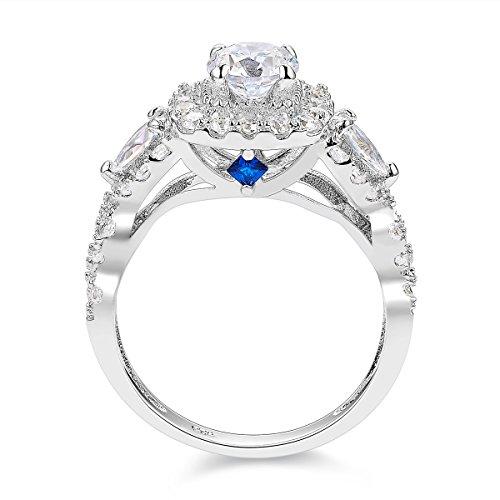 Newshe Engagement Wedding Ring Set For Women 925 Sterling