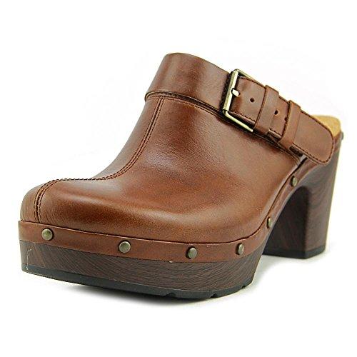 Clarks Women's Ledella York Tan Leather Clog/Mule 9.5 B (M)