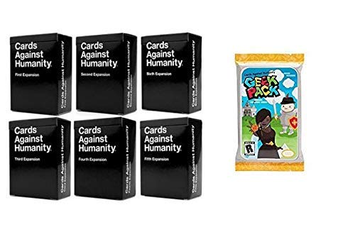 Cards Game Against Humanity Expansions 1,2,3,4,5,6 Plus Greek Pack