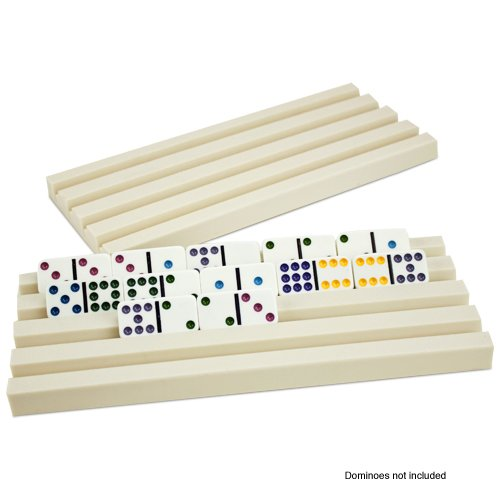 Set of Two Plastic Domino Trays by - Trays Plastic Domino