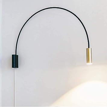 LED Design Wand Lampe Alt Messing Spot beweglich Arbeits Zimmmer Lese Strahler