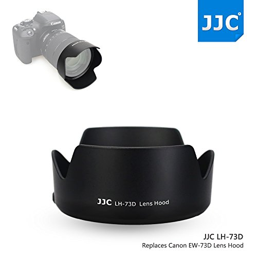 JW LH-73D Reversible Lens Hood Shade for Canon EF-S 18-135mm F/3.5-5.6 IS USM Lens Replaces Canon EW-73D Plus Emall Micro Fiber Cleaning Cloth