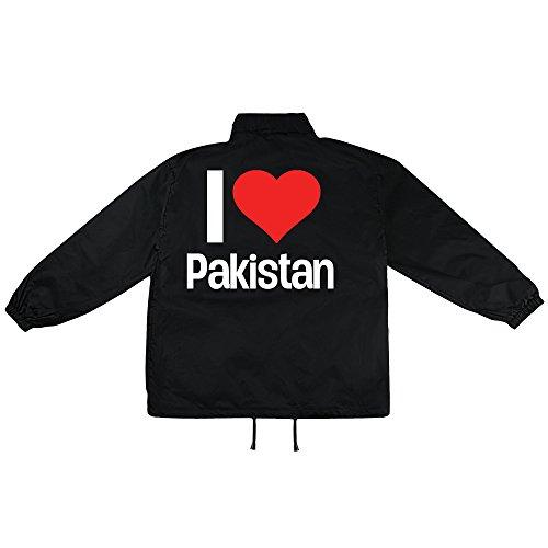 i love Pakistan Motiv auf Windbreaker, Jacke, Regenjacke, Übergangsjacke, stylisches Modeaccessoire für HERREN, viele Sprüche und Designs