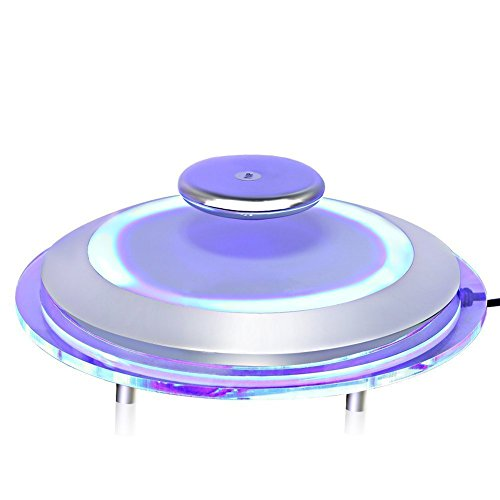 Zerone LED Floating Display Stand, Magnetic Levitation Platform Rotating LED Decorating Stand Turntable Holder for Shop Display Home Decoration