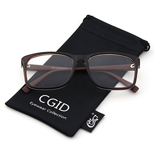 Happy Store CN12 Casual Fashion Basic Square Frame Clear Lens Eye - Tortoise Shell Glasses Fake