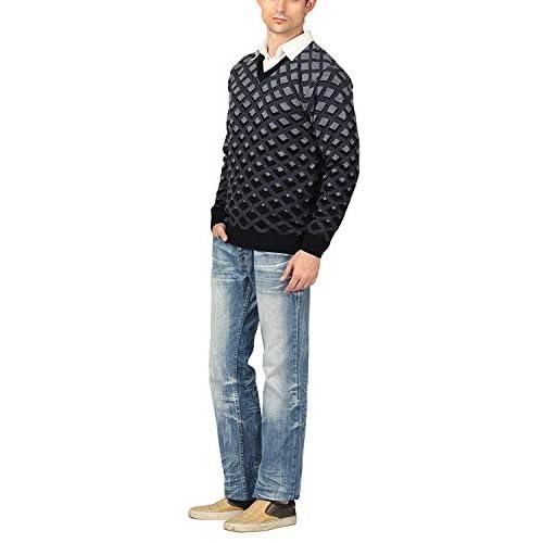 41ifrsDbOOL. SS500  - aarbee Men's V-neck Long Sleeve Regular Fit Sweater