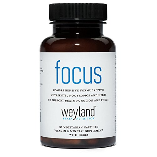 Focus Support Supplement With Vitamins  Minerals And Herbs  30 Vegetarian Capsules