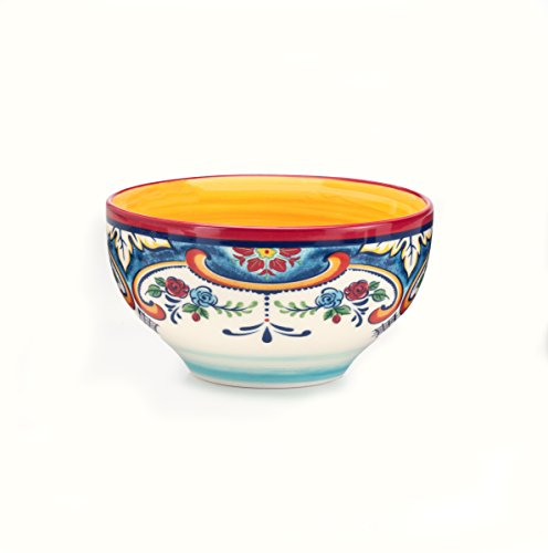 Euro Ceramica Zanzibar Collection Vibrant 16 Piece Ceramic