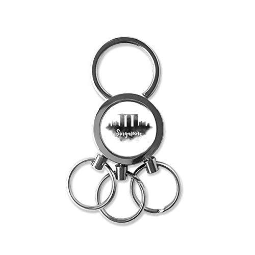 Singapore Ink City Metal Key Chain Ring Car Keychain Creative Trinket Keyring Novelty Item Best Charm Gift