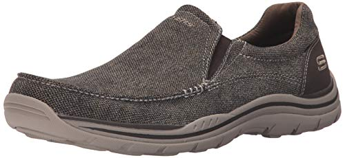 Skechers USA Men's Expected Avillo Relaxed-Fit Slip-On Loafer,Dark Brown,7 M US