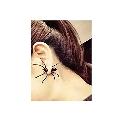 - Sexy Sparkles Halloween Jewelry Spider 3D Double Sided Ear Stud Cute Earring for Women