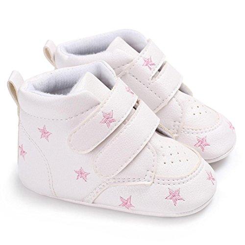 Kleinkind Rosa Cut Igemy Herzförmig Sneaker Hight Mädchen Baby Sole Rutsch Paar 1 Anti Schuhe Jungen Soft Stickerei ffa4Z