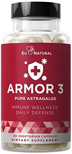 Armor 3 Astragalus Pure 1000 MG Healthy Immunity Function, Stress Support, Potent Strength for Seasonal Protection Full-Spectrum Standardized 60 Vegetarian Soft Capsules