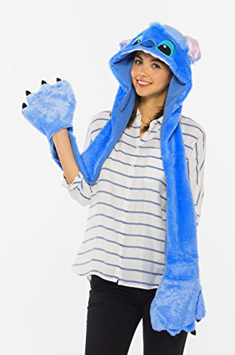 Lilo Costume Accessories (Disney Lilo & Stitch Stitch moving fluffy hood costume accessories for men and women shared length 105? 95384)